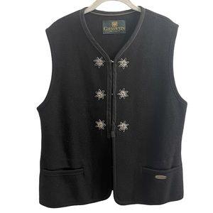 Giesswein Austria Edelweiss Wool Black Vest 10